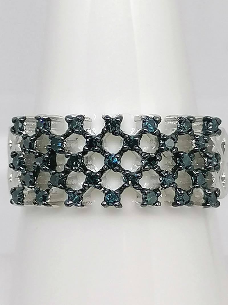 Blue Diamond Ring 0.33 TCW