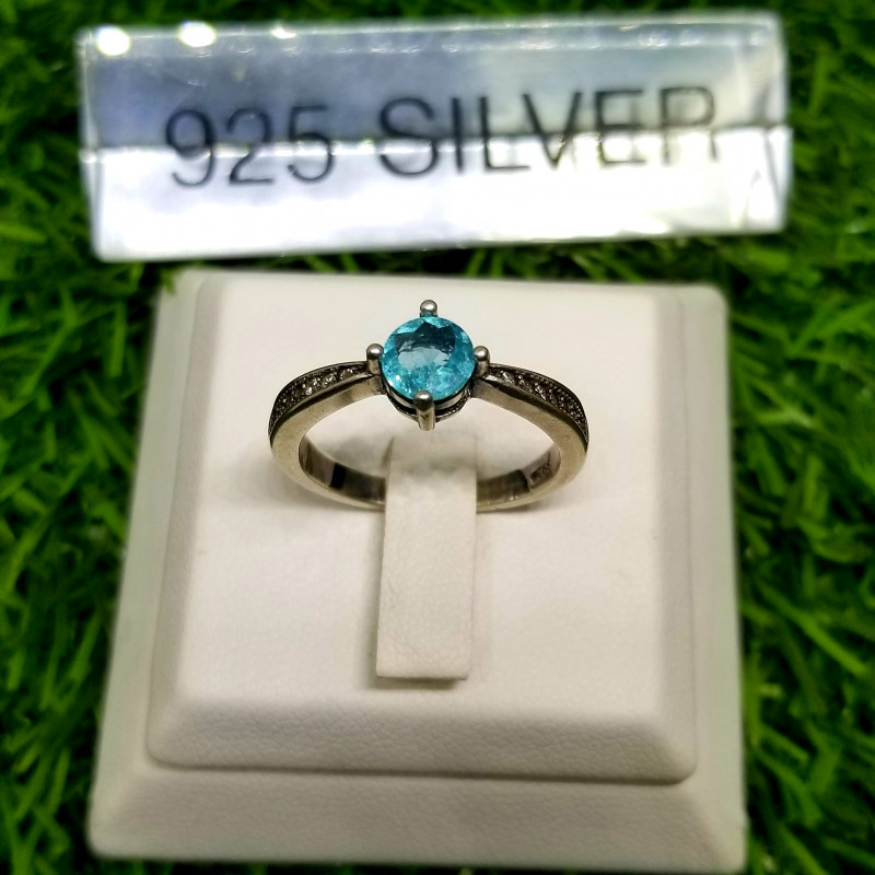 13.50ct Natural Gorgeous Apatite in 925 Sterling Silver Ring