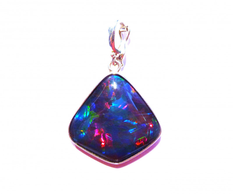 Quality Hand Crafted Australian Triplet Opal and Sterling Silver Pendant