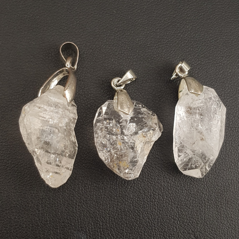 Natural Diamond Quartz Pendant.