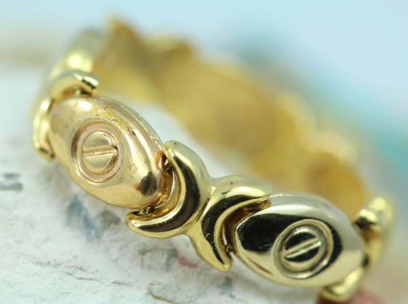 3.42 grams 18K GOLD MULTI LINK FLEXIBLE RING SIZE 9 1/2   NA 552