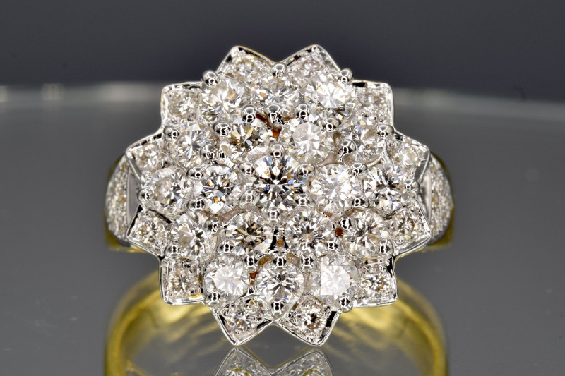 Natural Diamonds ring and 18k solid gold
