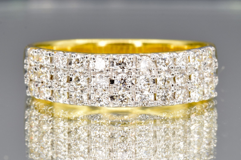 18k Natural Diamonds with 18k solid gold ring