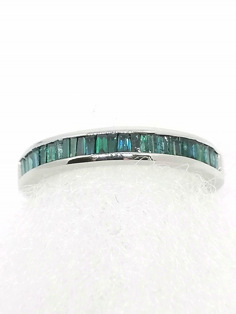 Blue Diamond Channel Set Ring 0.50 TCW