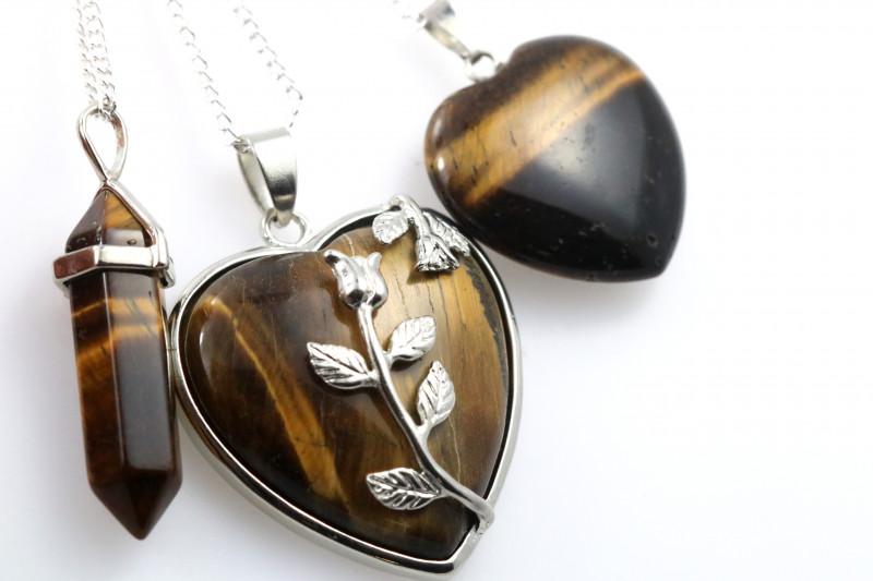 3 promotional Earthly Tigers Eye jewelry set NA 668