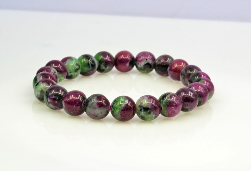 Natural Ruby Zoisite 143.35 Cts Bracelet, Top Quality