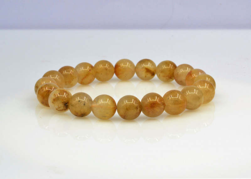 Natural Golden Rutile Quartz 121.05 Cts Bracelet, Top Quality