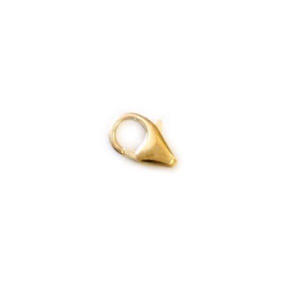 Trigger Clasp | Nickel Free Silver | 9 White Gold and Yellow Gold