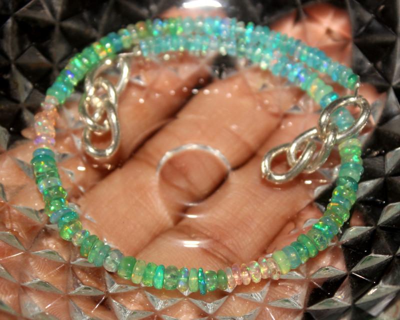 20 Crt Natural Ethiopian Welo Multi Color Opal Bracelet 117
