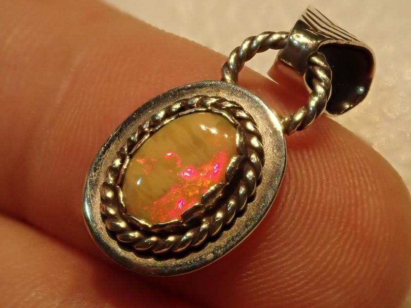 8.12ct Blazing Welo Solid Opal Pendant
