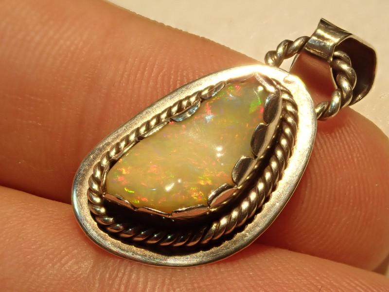 15.36ct Blazing Welo Solid Opal Pendant