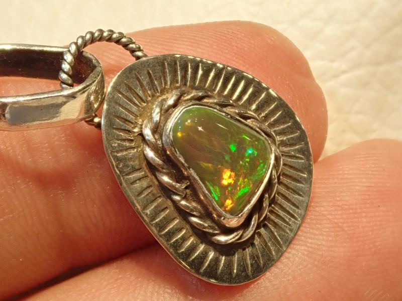 11.50ct Blazing Welo Solid Opal Pendant