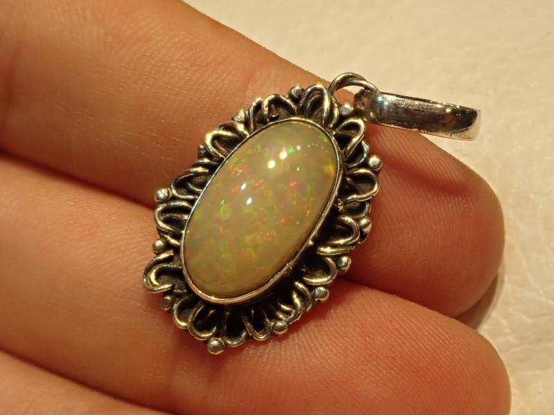 22.17ct Blazing Welo Solid Opal Pendant