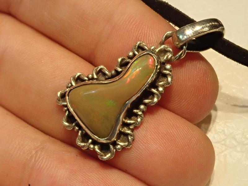 25.56ct Blazing Welo Solid Opal Pendant