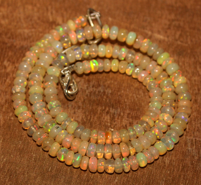 66 Crt Natural Ethiopian Welo Opal Necklace 188