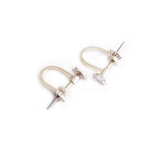 Ear Pin Screws | Earring Pins | Nickel Free Silver , 9ct Yellow Gold