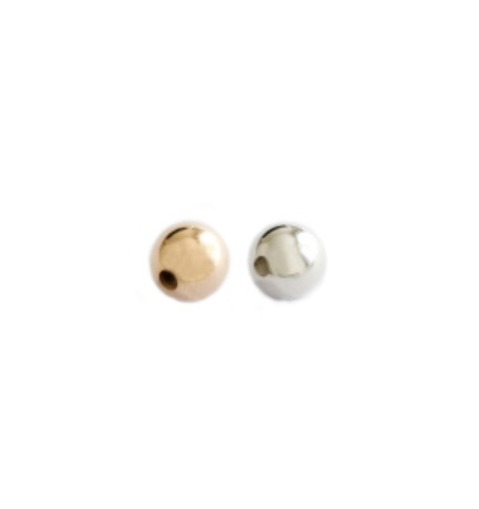 Round Bead | Gold, Nickel Free Silver