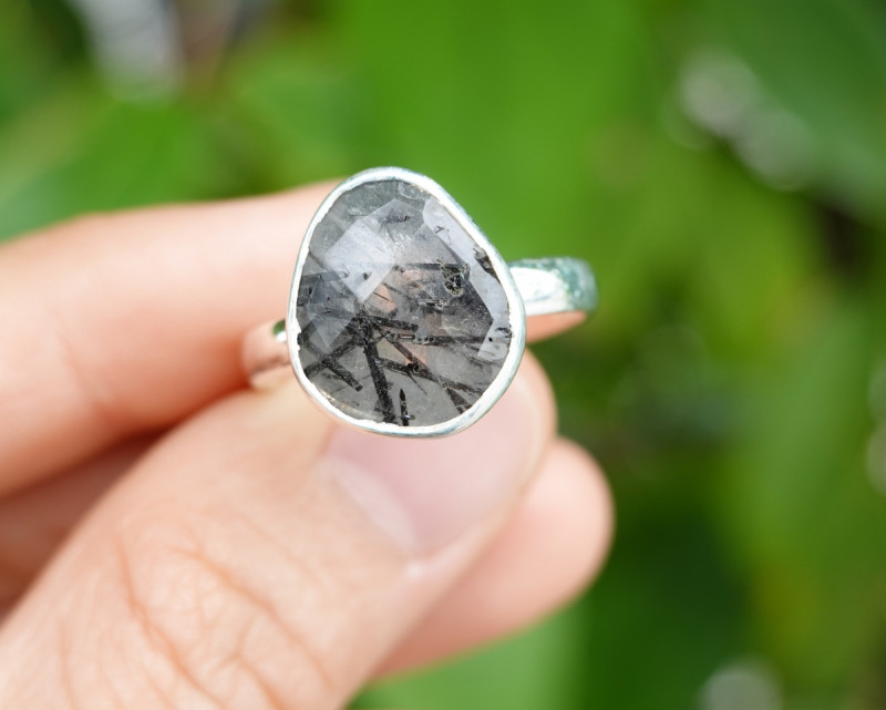 4.15g - 925 Sterling Silver Rings with Natural Stone / JW68