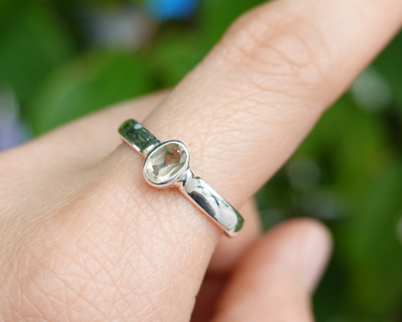 2.44g - 925 Sterling Silver Rings with Natural Stone / JW70