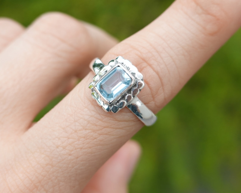 3.59g - 925 Sterling Silver Rings with Natural Stone / JW75
