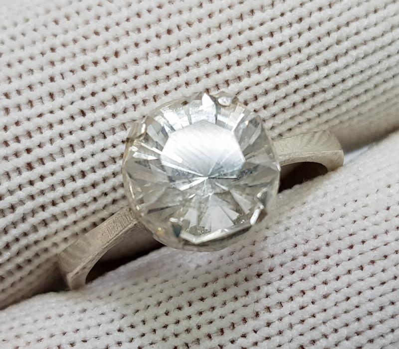Natural Topaz 12.60 Carats 925 Starling Silver Ring