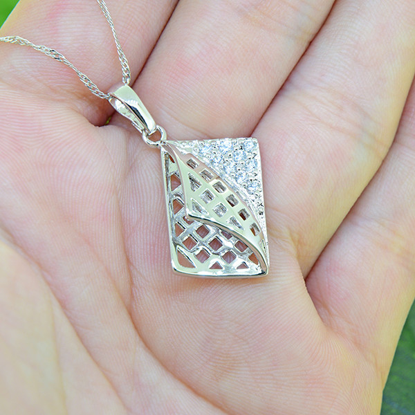 Abstract Gold - Filled Pendant