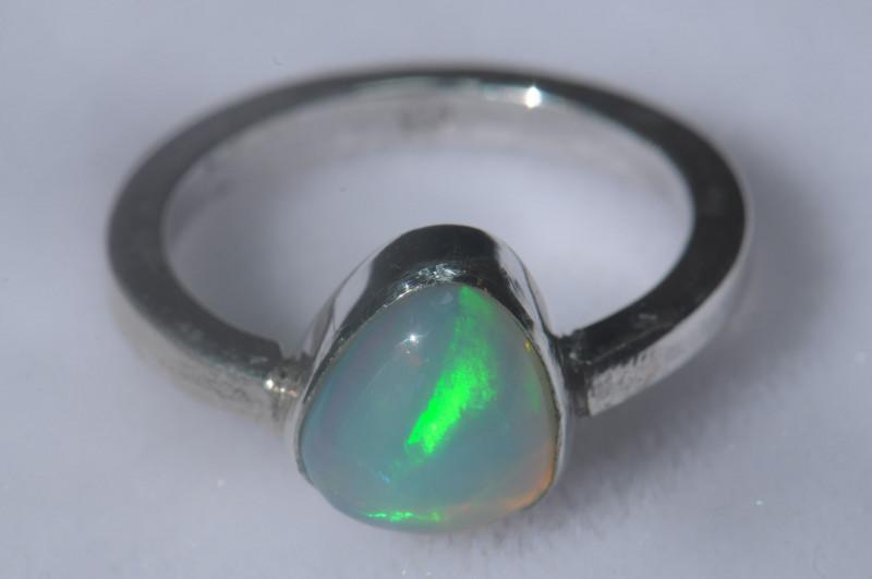 Mexican Matrix Cantera Multicoloured Fire Opal Ring