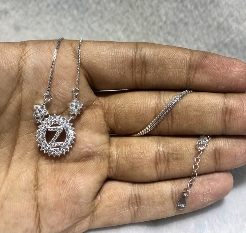Letter Z 925 silver Necklace an Unique designs