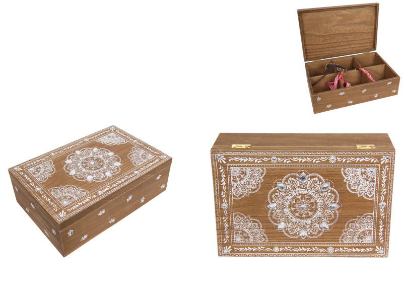 Chest Box of six parts  Boho/Mandala Design MDF Box code BOHOBOX