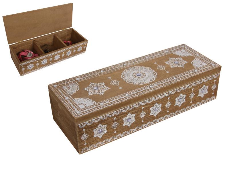 Chest Boho Box with triple dividers  Code BOHOBTRI