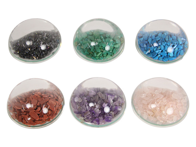 6  Pc flowing Half Moon Gemstone Paperweights s Code GEMPW