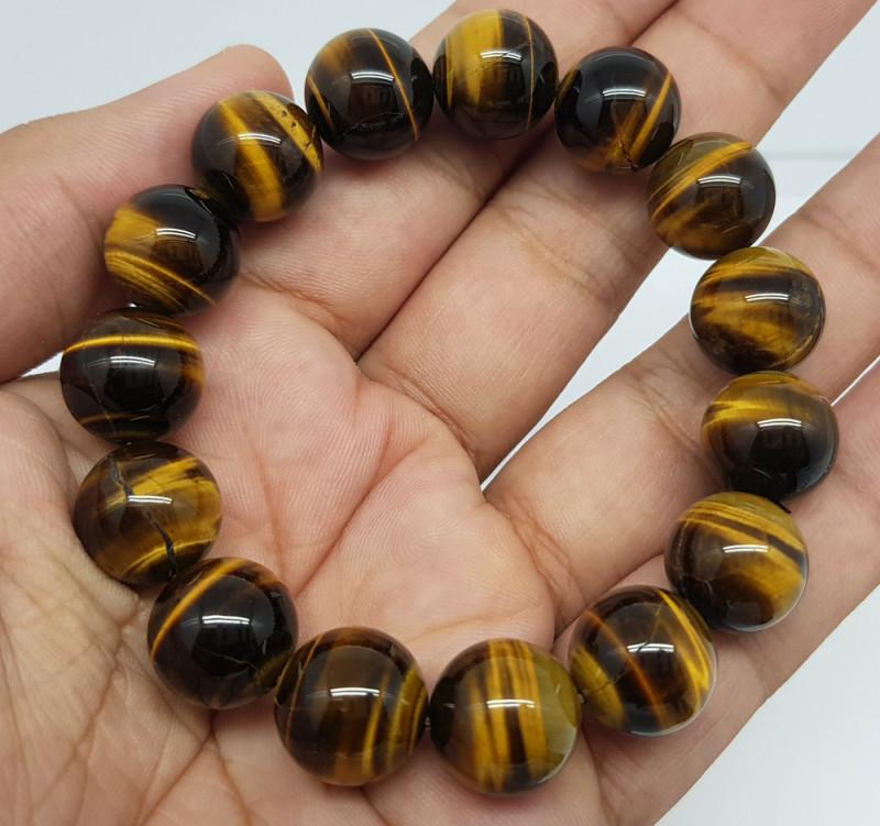 Natural Tiger Eye 302.00 Carats Bracelet