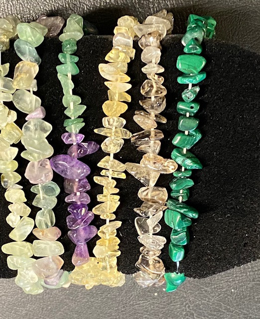 Parcel 6 beautiful gemstone Bracelets CCC 157