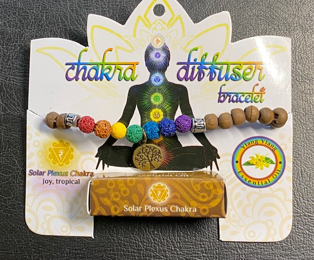 Solar Plexus  Chakra Tree Of life lava Stone ylang  Diffuser Bracelet Code
