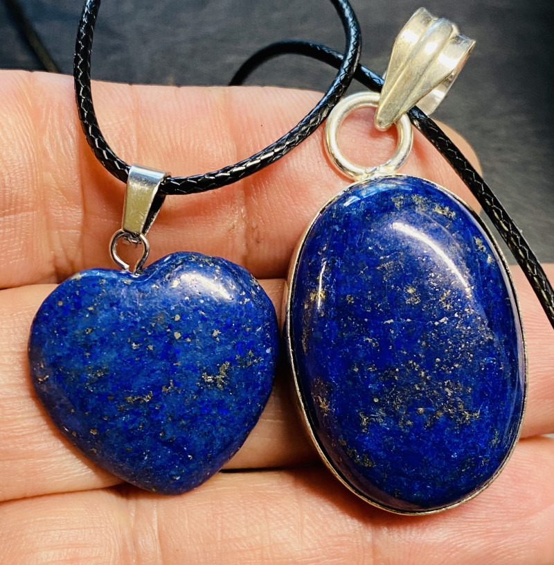 70  cts lapis lazuli-one Pendant and Heart shape one CCC 223