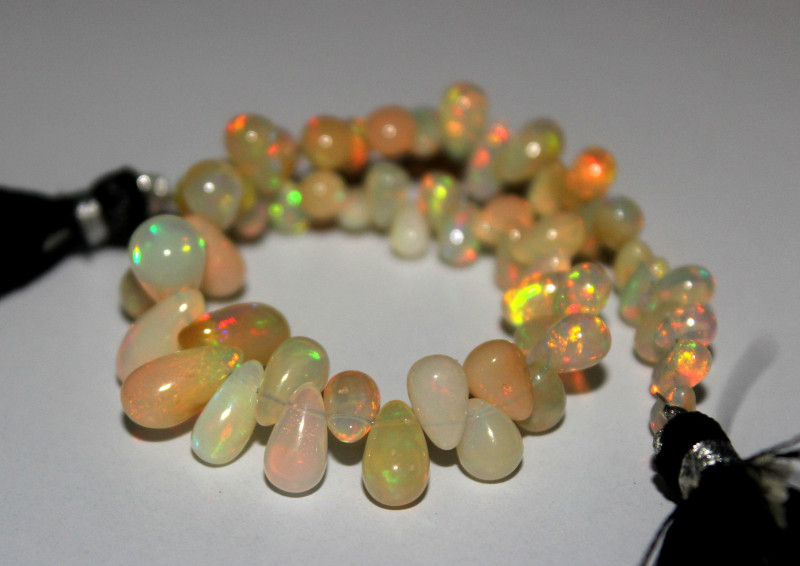 39 Crts Natural Ethiopian Welo Opal Teardrops 7