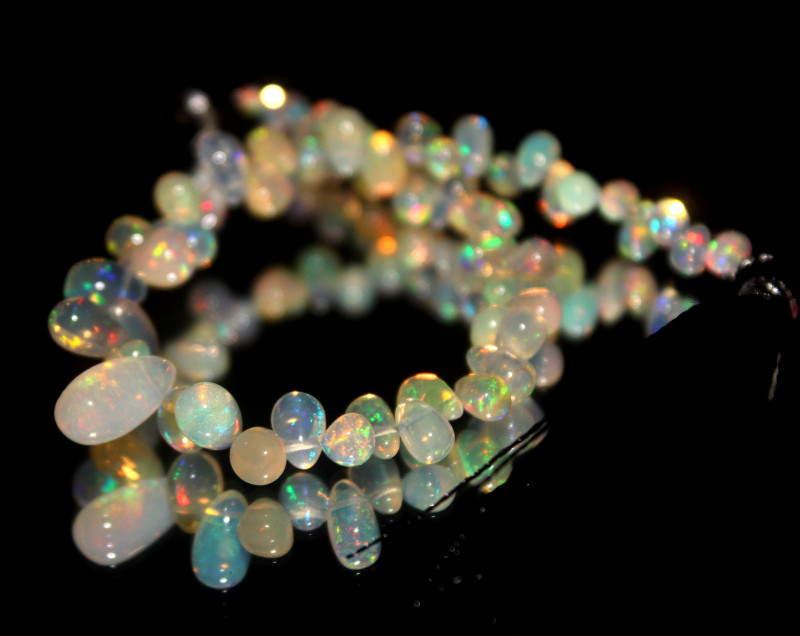 30 Crts Natural Ethiopian Welo Opal Teardrops For Jewelry Use 17