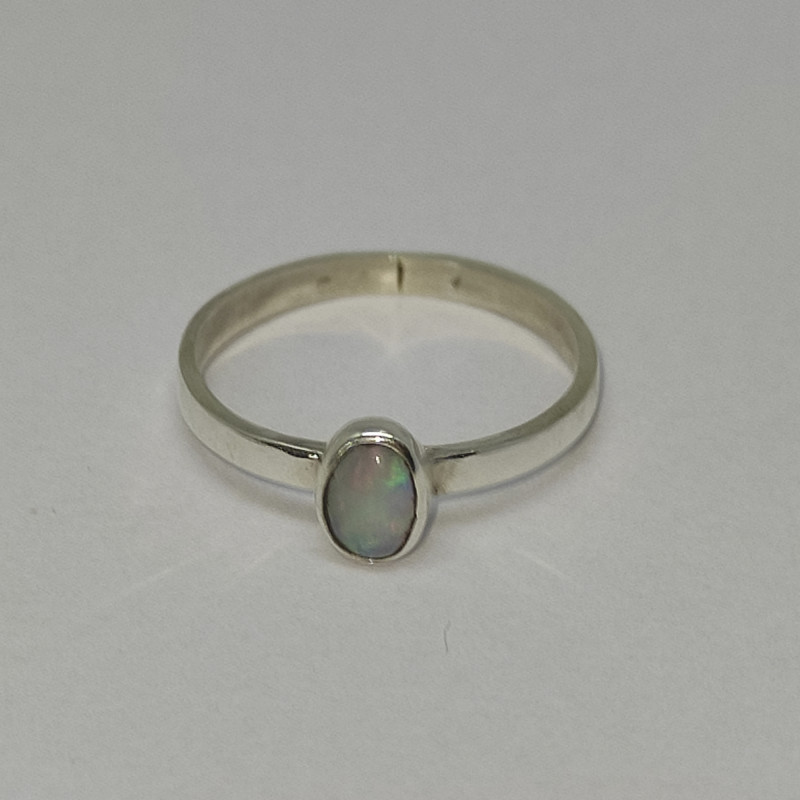 950 silver ring with solid opals