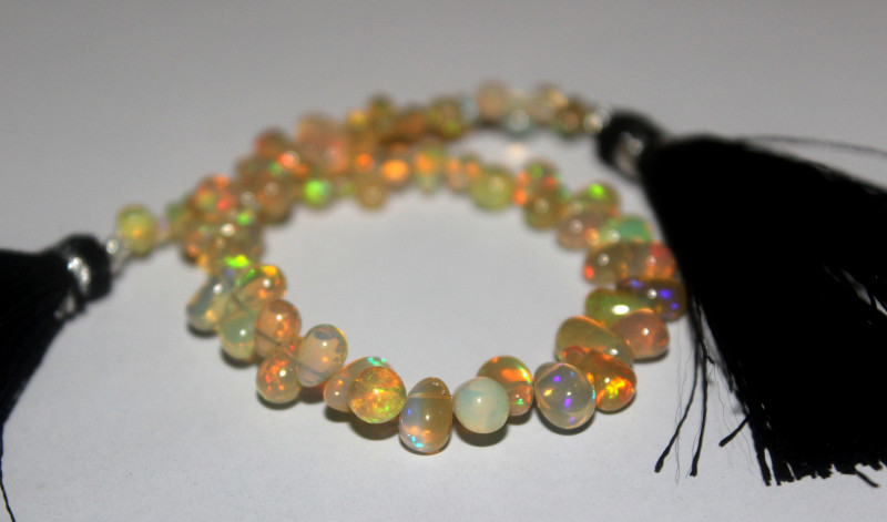 25 Crts Natural Ethiopian Welo Opal Teardrops For Jewelry Use 40