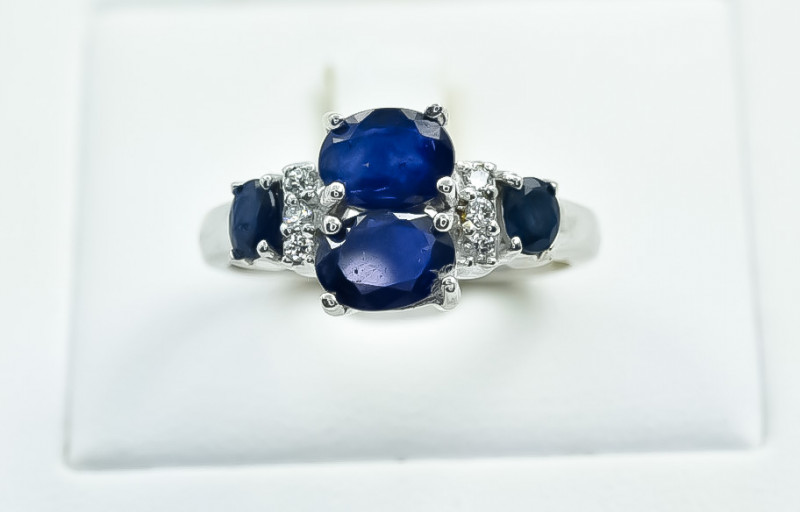 24.20 Crt Natural Sapphire 925 Silver Ring