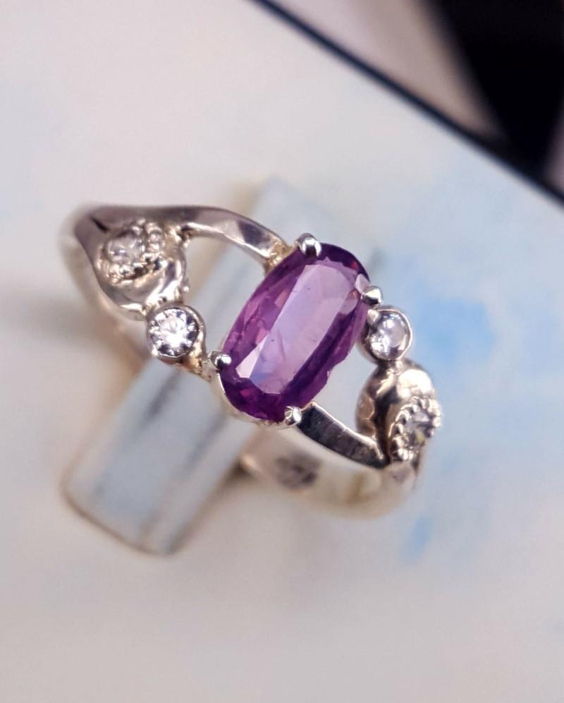 Natural Kashmir Sapphire Ring.
