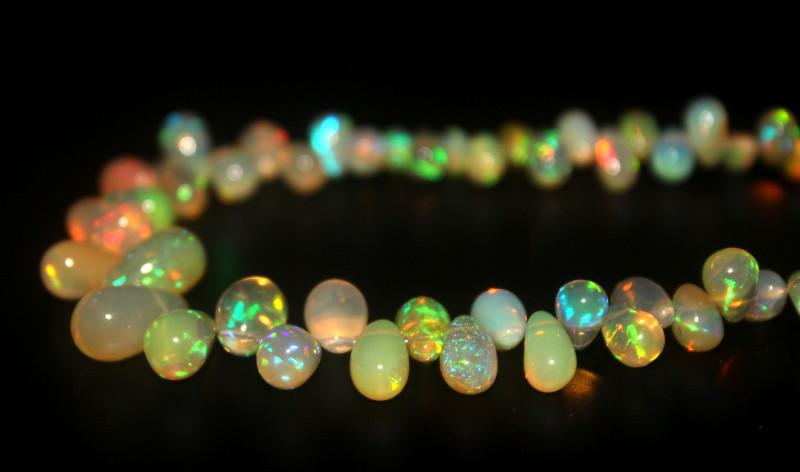 32 Crts Natural Ethiopian Welo Opal Teardrops 66