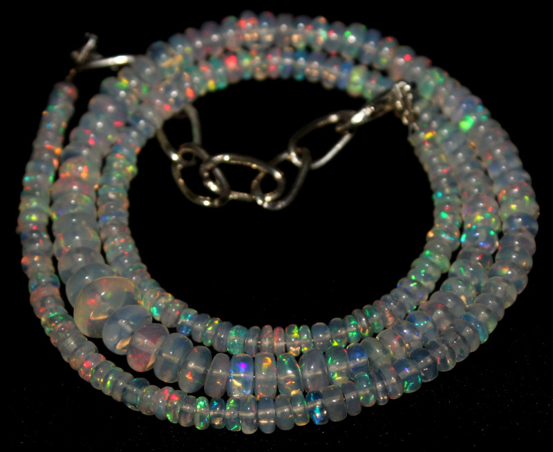44 Crt Natural Ethiopian Welo Opal Necklace 421