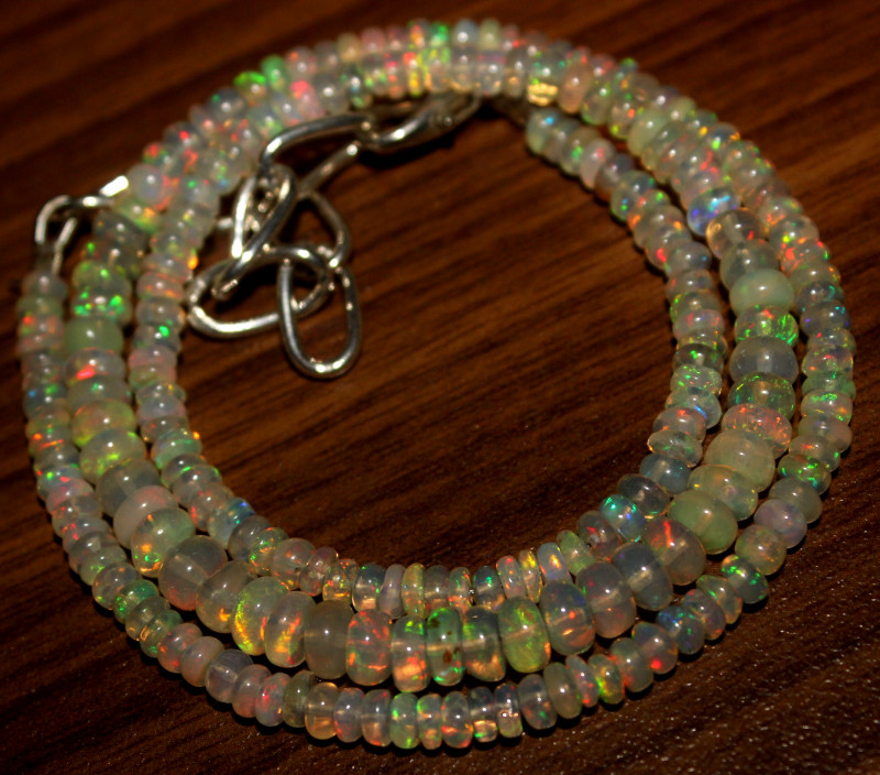 37 Crt Natural Ethiopian Welo Opal Necklace 439