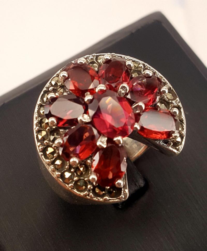 Natural Rodholite garnet Ring