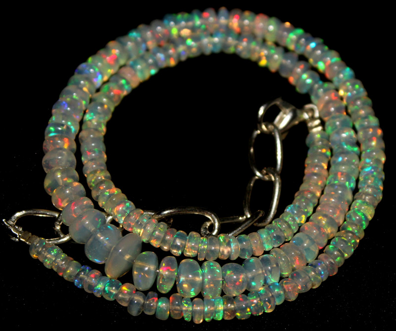 39 Crt Natural Ethiopian Welo Opal Necklace 408