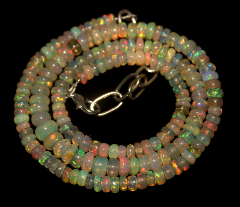 62 Crt Natural Ethiopian Welo Opal Necklace 87