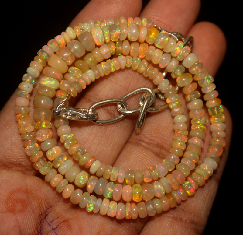 40 Crt Natural Ethiopian Welo Opal Necklace 47