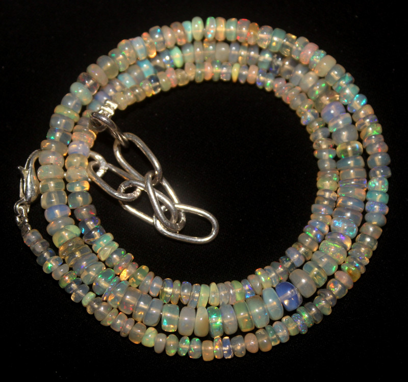 39 Crt Natural Ethiopian Welo Opal Necklace 38