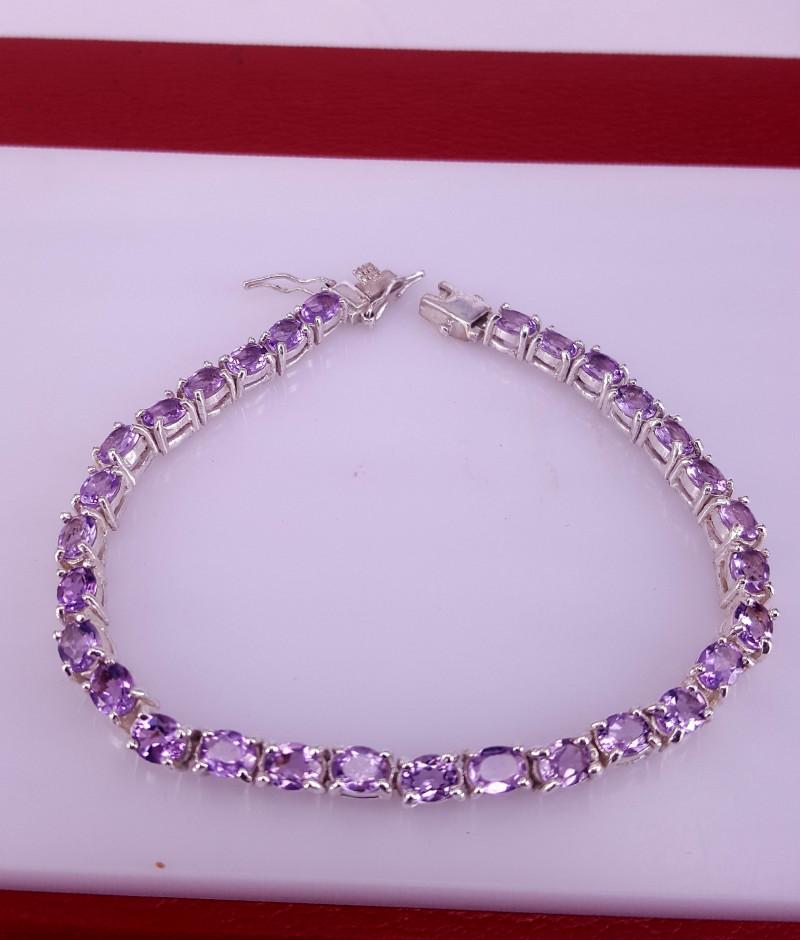 Natural Amethyst Bracelet.